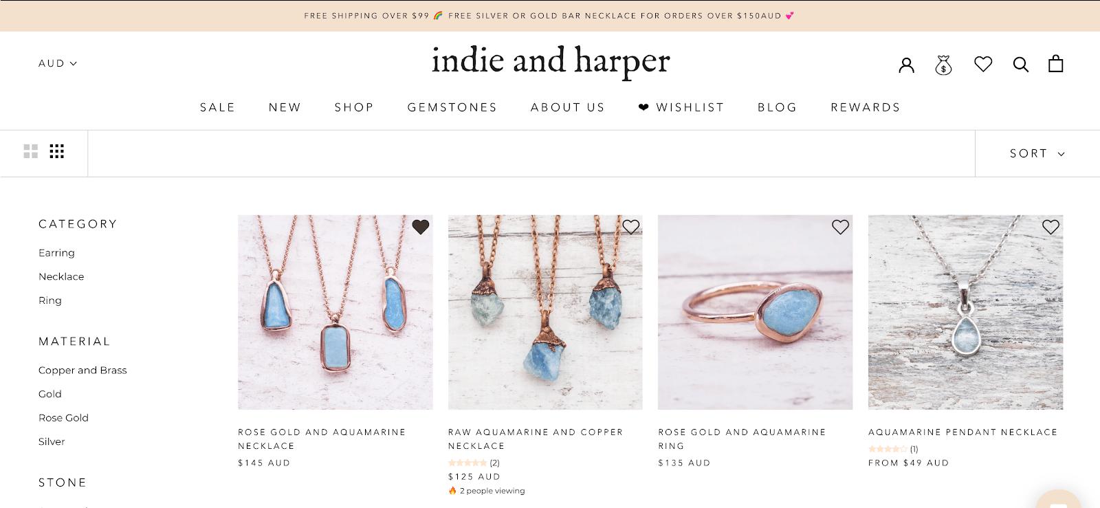 indie-and-harper-wishlist-customer-account-page