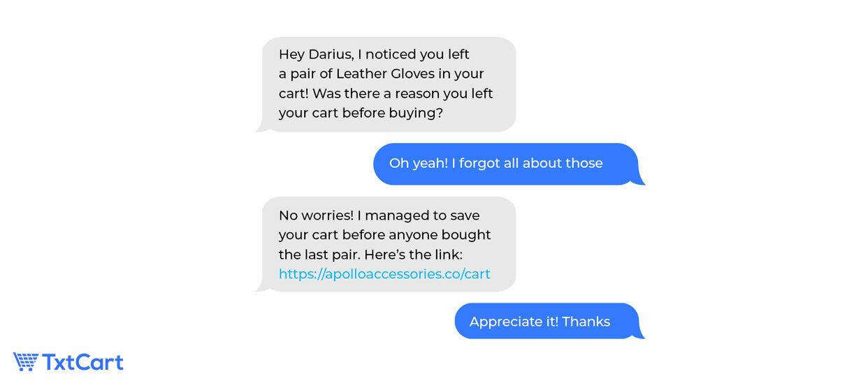 cart abandonment sms marketing