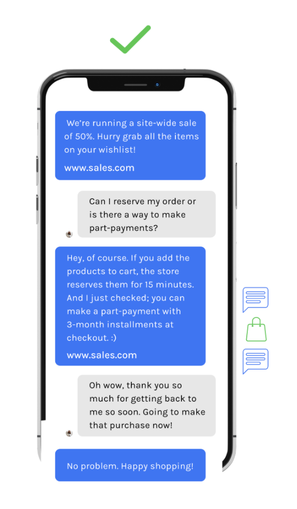 two-way sms marketing shopify