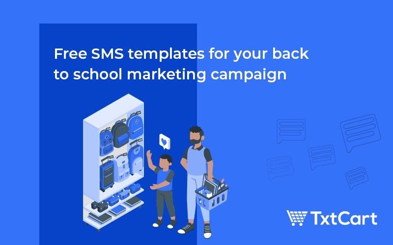 sms templates for back to school marketing