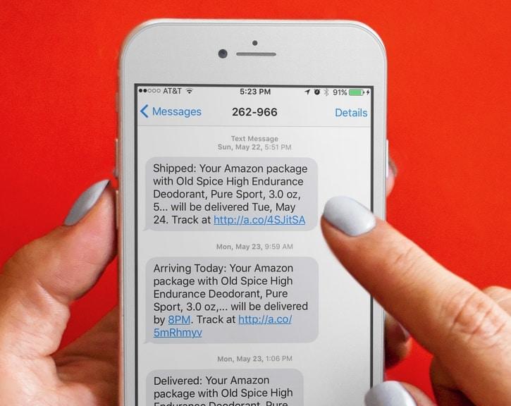 shopify sms marketing order status